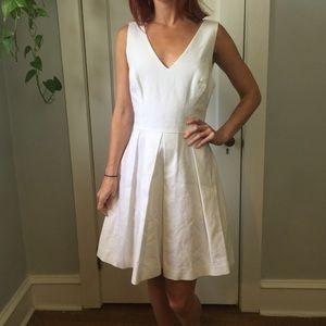 NWT JOIE White Skater Pleated Mini Summer Dress